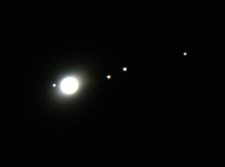 Planet Jupiter with Moons 4k. Stock Footage Video (100%