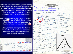 HYNEK'S Sept 7 '64 Letter to FTD with 'INSIGNIA' DRAWING